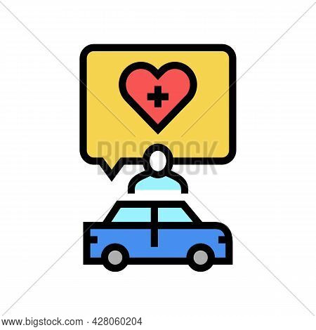 Medical Driving Conditions Color Icon Vector. Medical Driving Conditions Sign. Isolated Symbol Illus