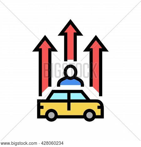 Mature Driver Improvement Course Color Icon Vector. Mature Driver Improvement Course Sign. Isolated