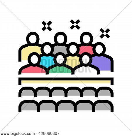 Children Concert Kindergarten Color Icon Vector. Children Concert Kindergarten Sign. Isolated Symbol