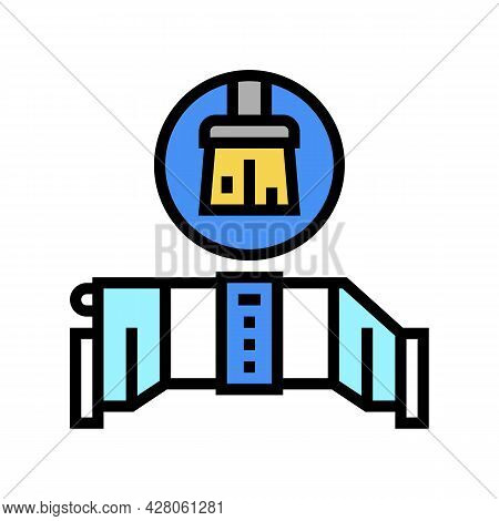 Salt Cell Maintenance Color Icon Vector. Salt Cell Maintenance Sign. Isolated Symbol Illustration