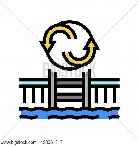 Pool Remodeling Services Color Icon Vector. Pool Remodeling Services Sign. Isolated Symbol Illustrat