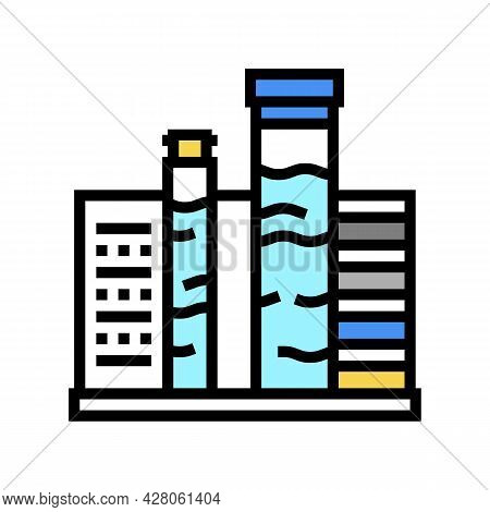 Pool Water Testing And Balancing Color Icon Vector. Pool Water Testing And Balancing Sign. Isolated