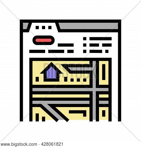 Location Of Area Color Icon Vector. Location Of Area Sign. Isolated Symbol Illustration