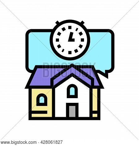 Short Term Rent Color Icon Vector. Short Term Rent Sign. Isolated Symbol Illustration