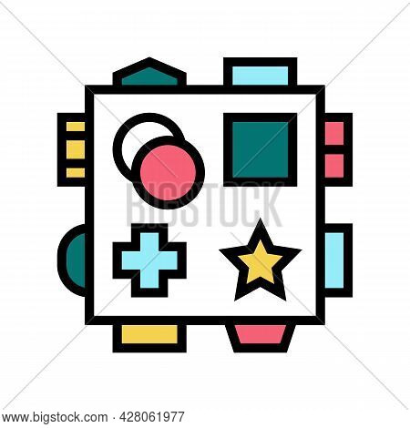 Early Learning Toys Color Icon Vector. Early Learning Toys Sign. Isolated Symbol Illustration