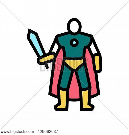 Action Figures Toys Color Icon Vector. Action Figures Toys Sign. Isolated Symbol Illustration