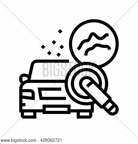 Scuff Mark And Minor Scratch Buffing Line Icon Vector. Scuff Mark And Minor Scratch Buffing Sign. Is