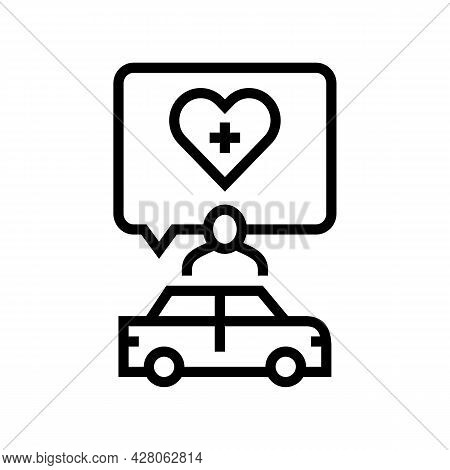 Medical Driving Conditions Line Icon Vector. Medical Driving Conditions Sign. Isolated Contour Symbo