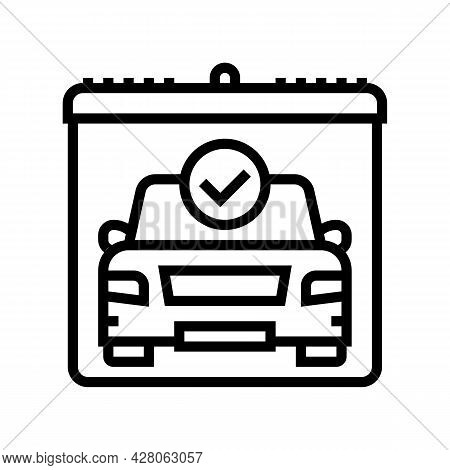 Drivers Day Of Test Line Icon Vector. Drivers Day Of Test Sign. Isolated Contour Symbol Black Illust