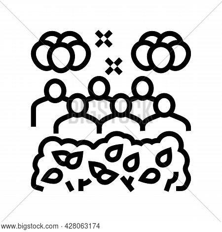 Jungle Safari Kids Party Line Icon Vector. Jungle Safari Kids Party Sign. Isolated Contour Symbol Bl