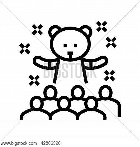 Animator Kids Show Line Icon Vector. Animator Kids Show Sign. Isolated Contour Symbol Black Illustra