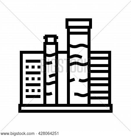 Pool Water Testing And Balancing Line Icon Vector. Pool Water Testing And Balancing Sign. Isolated C