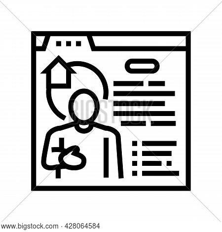 Realtor Services Line Icon Vector. Realtor Services Sign. Isolated Contour Symbol Black Illustration
