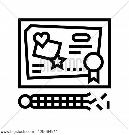 Craft Toys Line Icon Vector. Craft Toys Sign. Isolated Contour Symbol Black Illustration
