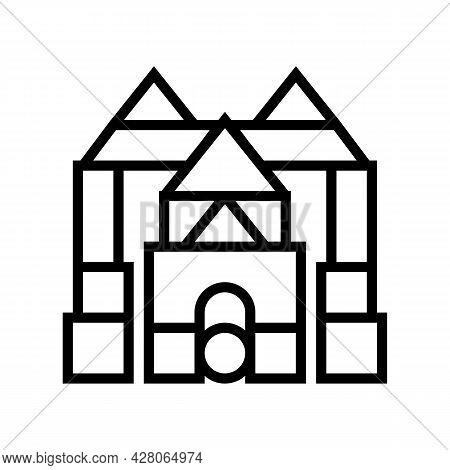 Imaginative Play Line Icon Vector. Imaginative Play Sign. Isolated Contour Symbol Black Illustration