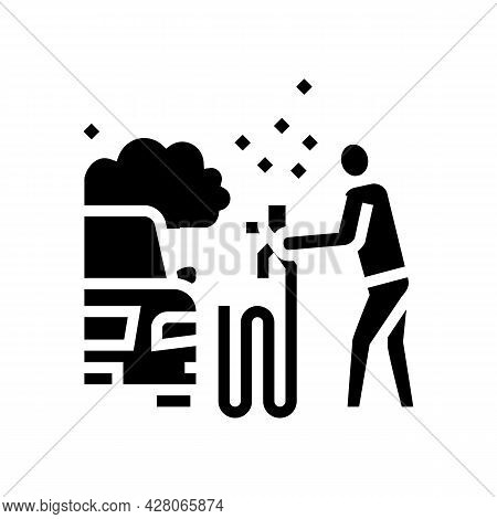 Car Painting Glyph Icon Vector. Car Painting Sign. Isolated Contour Symbol Black Illustration
