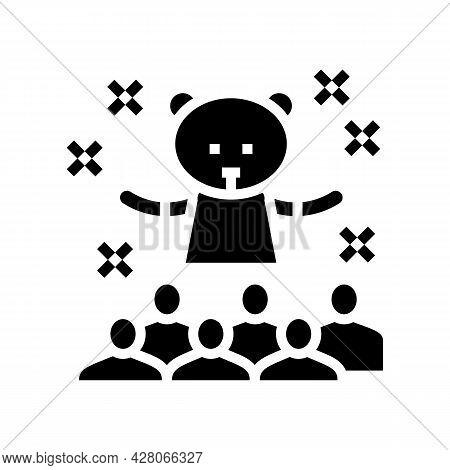 Animator Kids Show Glyph Icon Vector. Animator Kids Show Sign. Isolated Contour Symbol Black Illustr