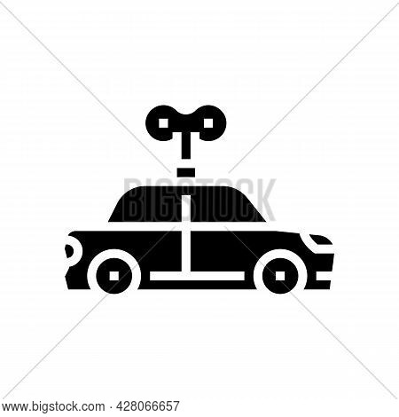 Car Toy Kindergarten Glyph Icon Vector. Car Toy Kindergarten Sign. Isolated Contour Symbol Black Ill