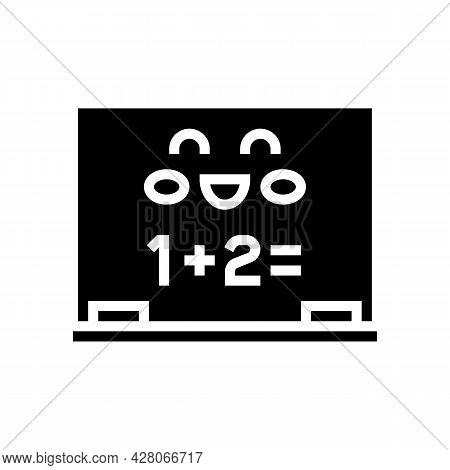 Mathematics Lesson Kindergarten Glyph Icon Vector. Mathematics Lesson Kindergarten Sign. Isolated Co