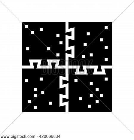 Puzzle Jigsaw Kindergarten Glyph Icon Vector. Puzzle Jigsaw Kindergarten Sign. Isolated Contour Symb