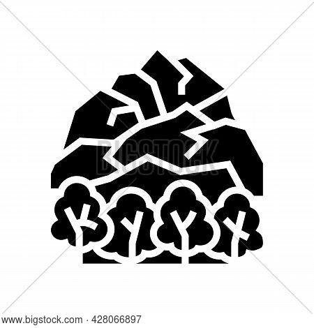 Tundra Landscape Glyph Icon Vector. Tundra Landscape Sign. Isolated Contour Symbol Black Illustratio