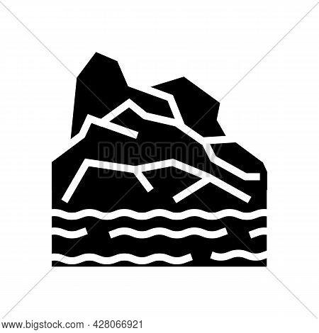 Arctic Land Glyph Icon Vector. Arctic Land Sign. Isolated Contour Symbol Black Illustration