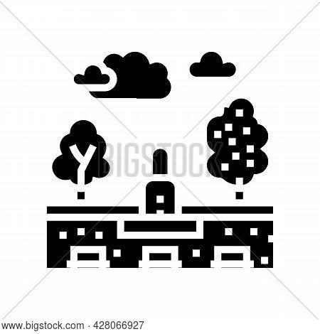 City Park Land Glyph Icon Vector. City Park Land Sign. Isolated Contour Symbol Black Illustration