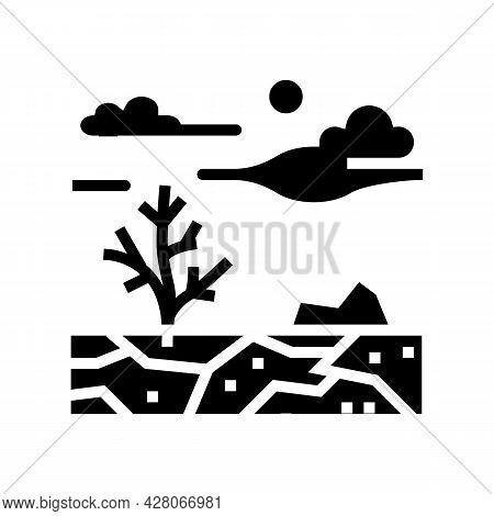 Barren Land Glyph Icon Vector. Barren Land Sign. Isolated Contour Symbol Black Illustration