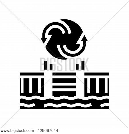 Pool Remodeling Services Glyph Icon Vector. Pool Remodeling Services Sign. Isolated Contour Symbol B