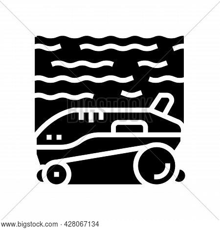 Robot Cleaner Pool Glyph Icon Vector. Robot Cleaner Pool Sign. Isolated Contour Symbol Black Illustr