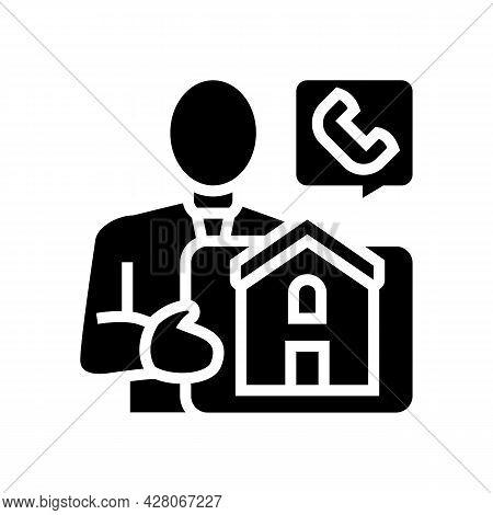 Property Landlord Glyph Icon Vector. Property Landlord Sign. Isolated Contour Symbol Black Illustrat