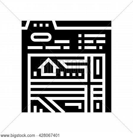 Location Of Area Glyph Icon Vector. Location Of Area Sign. Isolated Contour Symbol Black Illustratio