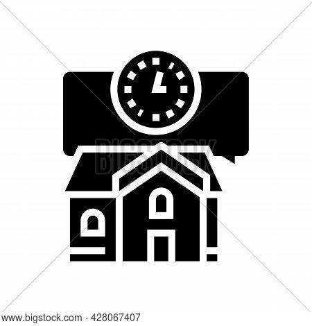 Short Term Rent Glyph Icon Vector. Short Term Rent Sign. Isolated Contour Symbol Black Illustration