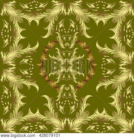 Luxury, Royal And Victorian Concept. Ornate Vector Decoration. Vintage Baroque Floral Seamless Patte