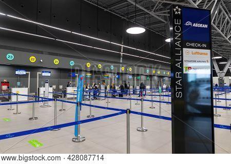 New Terminal Of Thessaloniki Makedonia International Airport