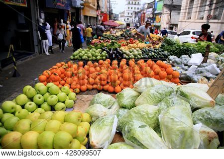 Fruit And Vegetable Seller In Salvador