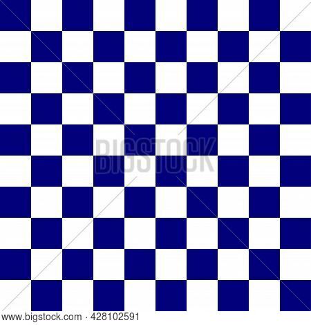 Seamless Blue White Checkerboard Pattern. Illustration Abstract Art Design Background. Vector Eps10.