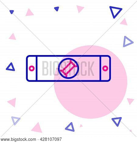 Line Construction Bubble Level Icon Isolated On White Background. Waterpas, Measuring Instrument, Me