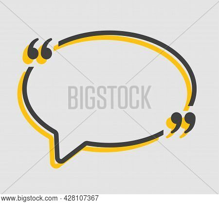 Quote Speech Bubble, Text In Brackets, Oval Frame