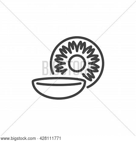 Eye Lens Line Icon. Linear Style Sign For Mobile Concept And Web Design. Contact Lens Outline Vector
