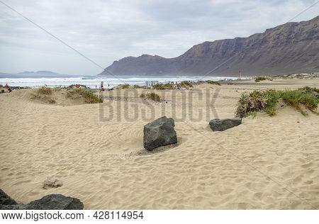 Playa De Tamara In Lanzarote, Part Of The Canary Islands