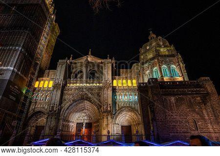 The Primate Cathedral Of Saint Mary Of Toledo, Catedral Primada Santa Maria De Toledo, A Roman Catho