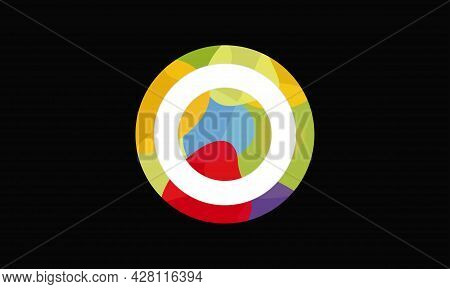 Colorful Letter O Logo Design Vector Template. Abstract Technology Letter O Logo Design