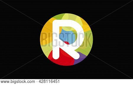 Colorful Letter R Logo Design Vector Template. Abstract Technology Letter R Logo Design