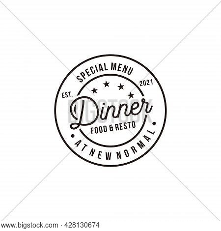 Dinner Special Menu Vintage Retro Concept Logo Elements. Logo Can Be Used For Icon, Brand, Identity,