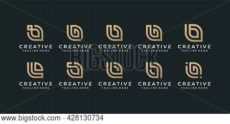 Creative Monogram Letter B Initial Alphabet Font Logo Design For Brand Identity. Logo Can Be Used Fo