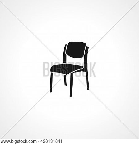 Chair Icon. Chair Simple Vector Icon. Chair Isolated Icon.