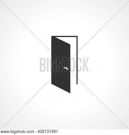 Open Door Icon. Door Simple Vector Icon. Door Isolated Icon.