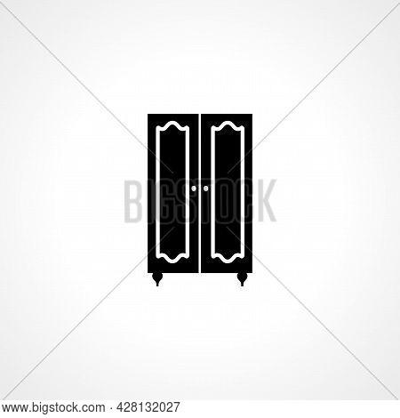 Wardrobe Icon. Wardrobe Simple Vector Icon. Wardrobe Isolated Icon.