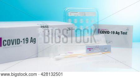 Covid 19 Antigen Self Test For Nasal Swab. Antigen Test Kit For Home Use To Detection Coronavirus In